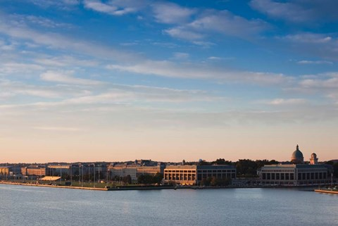 Framed US Naval Academy, Severn River, Annapolis, Maryland Print