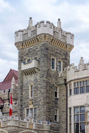 Framed Tower on Casa Loma Castle, Toronto, Ontario, Canada Print