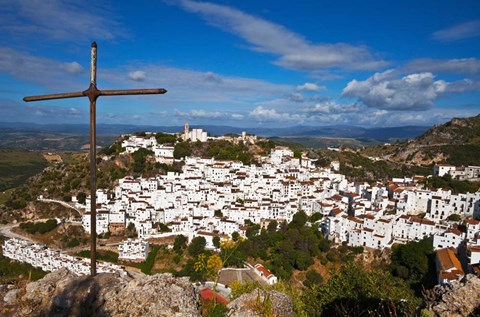 Framed Village of Casares, Malaga Province, Andalucia, Spain Print