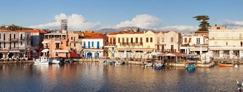 Framed Venetian Harbour, Rethymno, Crete, Greece Print