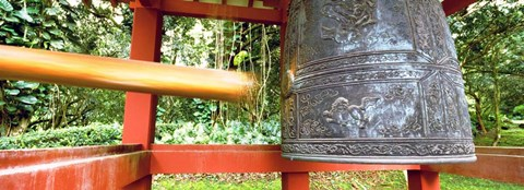 Framed Bell in a Buddhist temple, Byodo-In Temple, Oahu, Hawaii Print