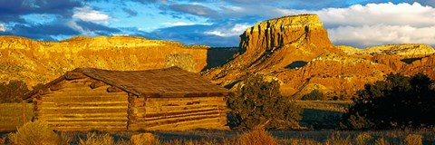 Framed Ghost Ranch at Sunset, Abiquiu, New Mexico Print
