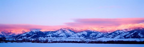 Framed Bridger Mountains Sunset, Montana Print