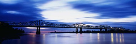 Framed Mississippi River, Natchez Print