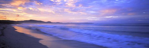 Framed Costa Rica Beach at Sunrise Print
