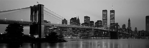 Framed Brooklyn Bridge, Manhattan, NYC Print