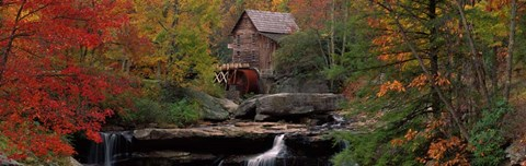 Framed Glade Creek Grist Mill, West Virginia Print