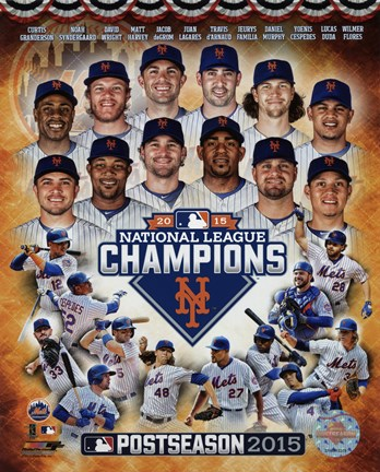 Framed New York Mets 2015 National League Champions Composite Print