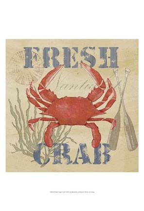 Framed Wild Caught Crab Print