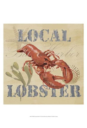 Framed Wild Caught Lobster Print