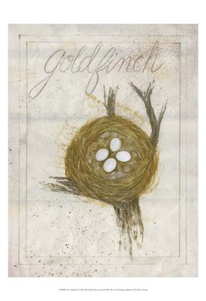 Framed Nest - Goldfinch Print