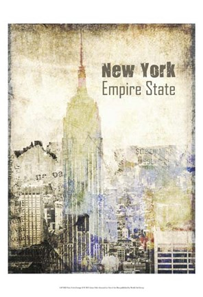 Framed New York Grunge II Print