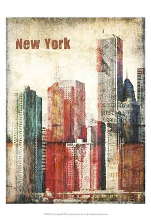 Framed New York Grunge III Print