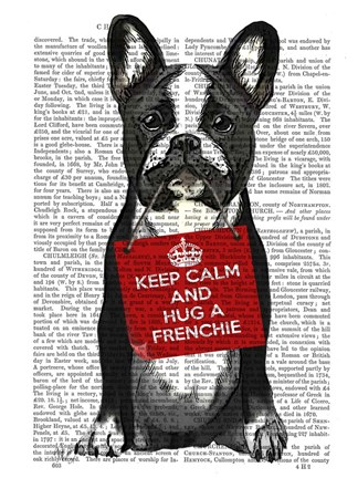 Framed Hug a Frenchie Print