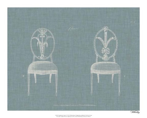 Framed Hepplewhite Chairs IV Print