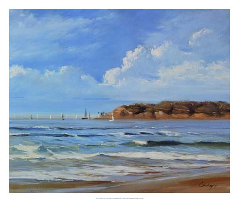 Framed Point Loma - View from Coronada Shores Print