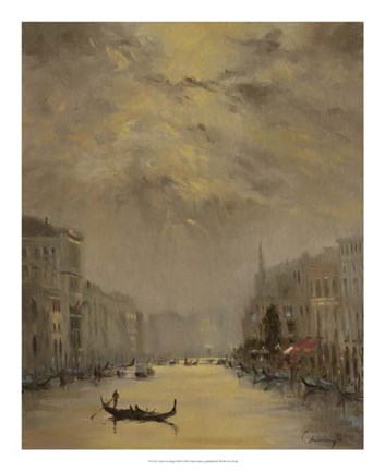 Framed Venice Evening Gold Print