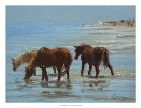 Framed Chincoteague Ponies Print