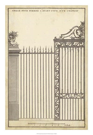 Framed Antique Decorative Gate II Print
