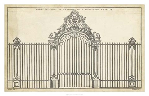 Framed Antique Decorative Gate III Print