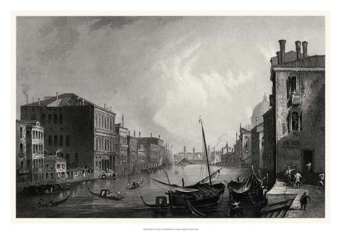 Framed Antique View of Venice Print