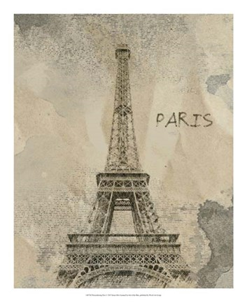 Framed Remembering Paris Print