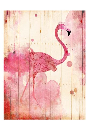 Framed Flamingo Henna Print