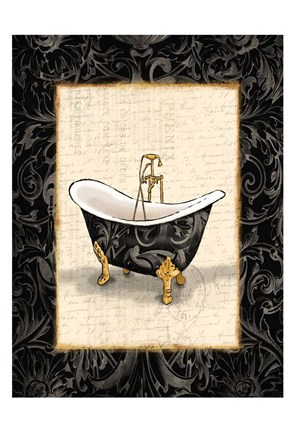 Framed Black Gold Bath Print