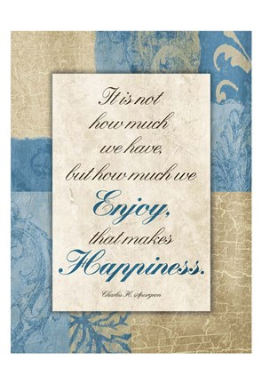 Framed Enjoy Happiness Print