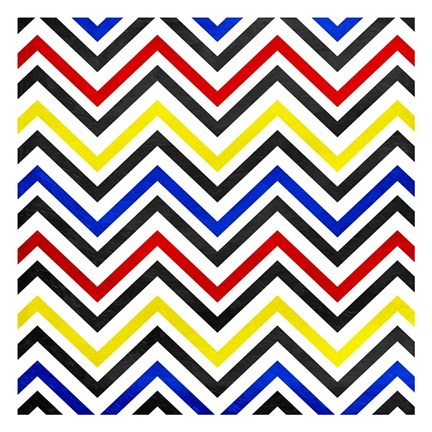 Framed Pop Chevrons Print
