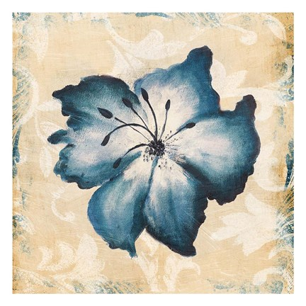 Framed Blue Flower Print