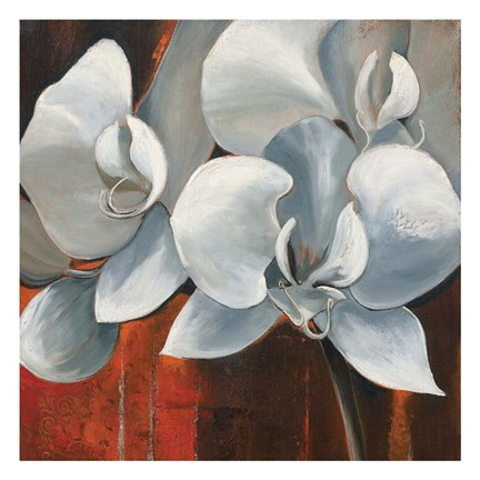 Framed Pearl Orchid I Square Print
