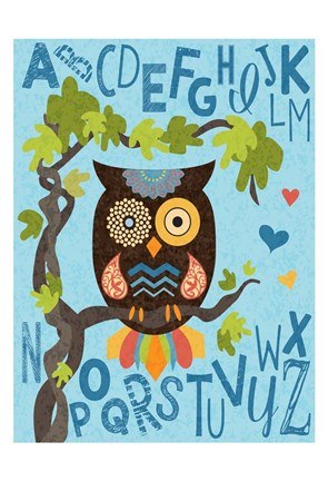 Framed Owl Set Numlet 1 Print