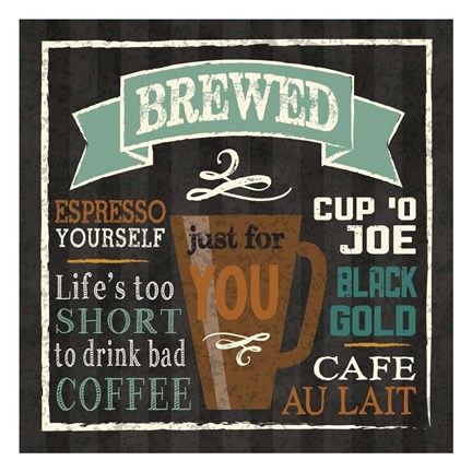 Framed Brew Chalk 2 Print