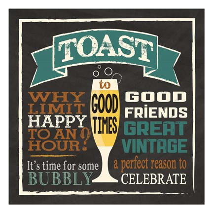 Framed Toast Chalk 1 Print