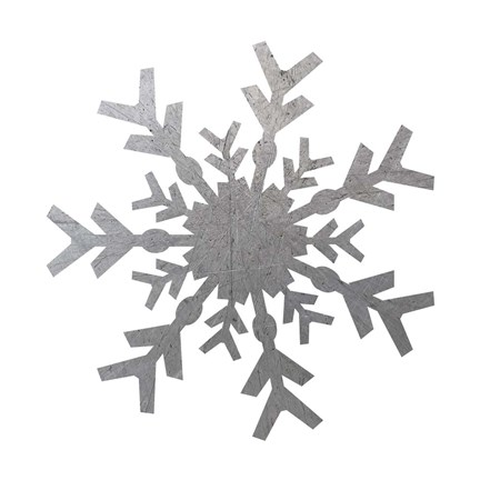 Framed Silver Snowflakes 4 Print