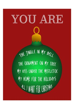 Framed You Are My Christmas Everything Print
