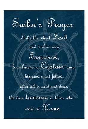 Framed Sailor's Prayer 1 Print