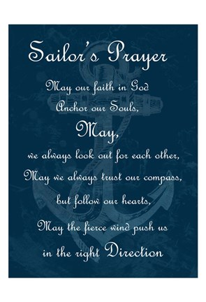 Framed Sailor's Prayer 2 Print