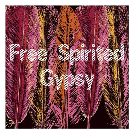 Framed Free Spirited Gypsy Print