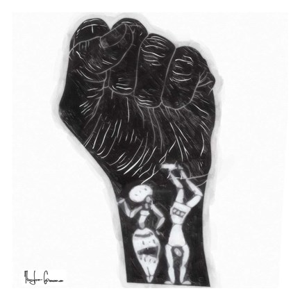 Framed Black Fist Print