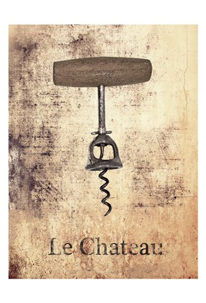 Framed Le Chateau Wine 1 Print