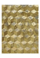 Golden Cubism  Fine Art Print