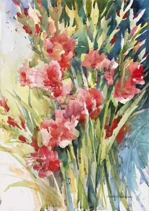 Framed Gladiola Bunch Print