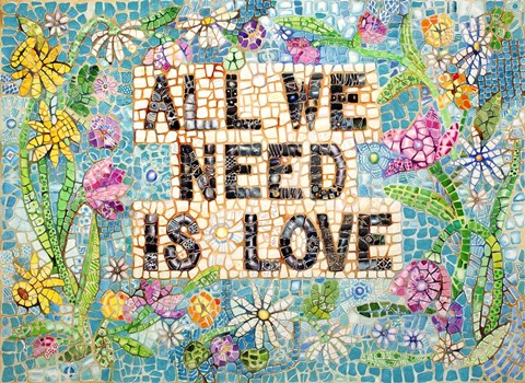Framed All We Need is Love Print