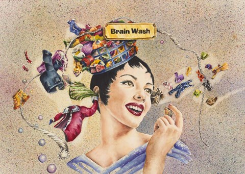Framed Brain Wash Print