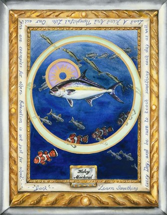 Framed Holey Mackerel Print
