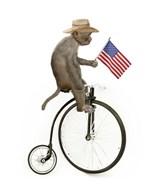 Monkeys Riding Bikes #3  Fine Art Print