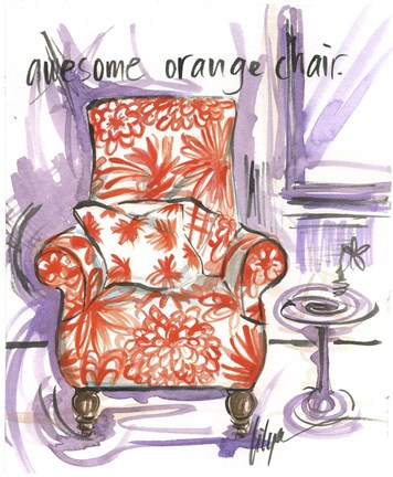 Framed Awesome Orange Chair Print