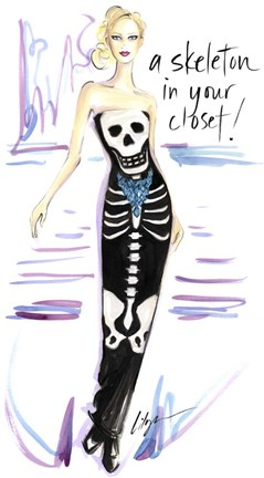 Framed Skeleton In Your Closet Print